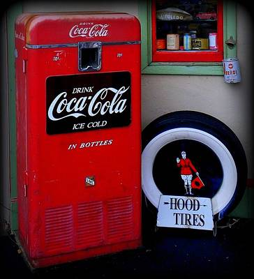 Hood Tires Cocacola Art Print by Randall Weidner