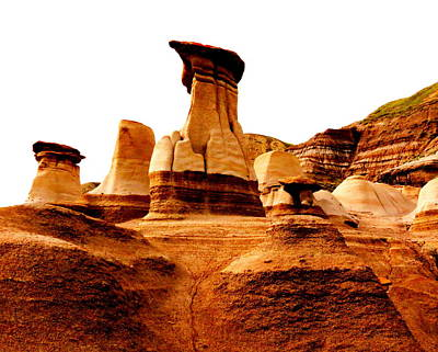 Photograph - Hoodoos by Ramona Johnston