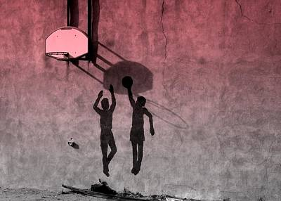 Photograph - Hoop Boys by Clarice  Lakota