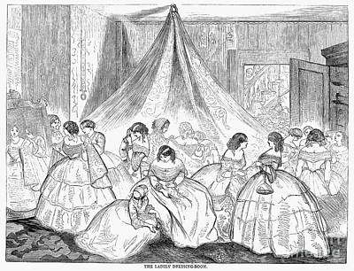Ball Gown Photograph - Hoopskirts, 1858 by Granger