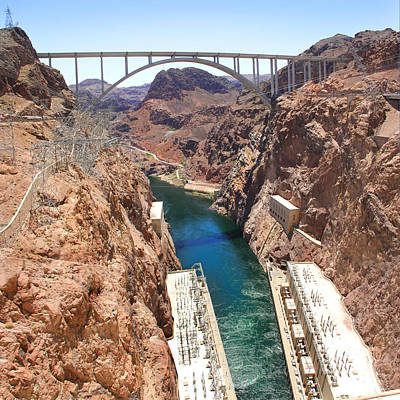 Hoover Dam Photograph - Hoover Dam Bridge by Mike McGlothlen