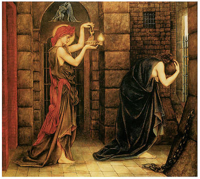 Hope In The Prison Of Despair Print by Evelyn De Morgan
