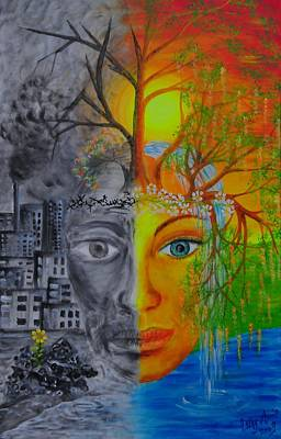 Globalwarming Painting - Hope Motherearth by Esthy Baltisberger