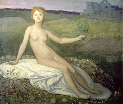 Franco-prussian War Painting - Hope by Pierre Puvis de Chavannes