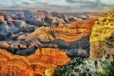 Digital Art - Hopi Point - Grand Canyon Sunset by Mary Warner