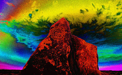 Petroglyph Painting - Hopi Sky by David Lee Thompson