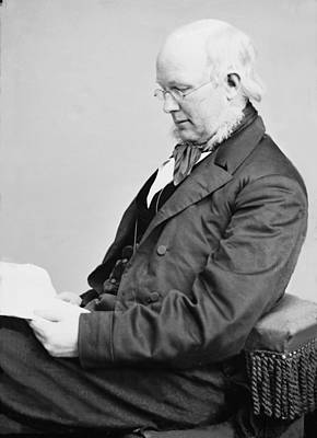Horace Greeley 1811-1872, Ca. 1860 Art Print by Everett