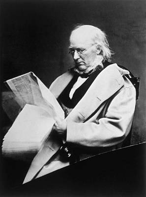 Horace Greeley 1811-1872, Photograph Art Print by Everett