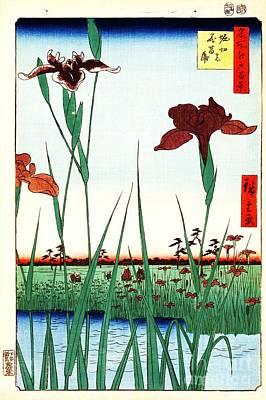 Painting - Horikiri Iris Garden by Roberto Prusso