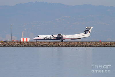 Airways Photograph - Horizon Airlines Jet Airplane At San Francisco International Airport Sfo . 7d11988 by Wingsdomain Art and Photography