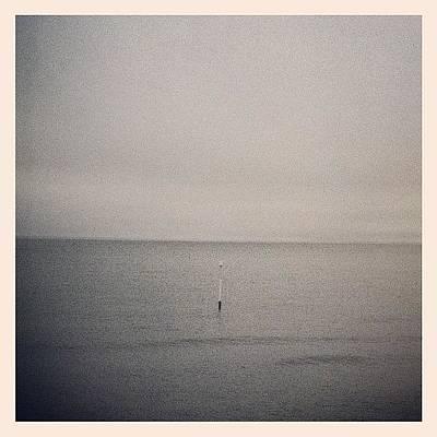 Marsh Photograph - Horizon Post by Tom Crask