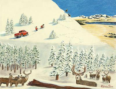 Horn Hunters Print by Tim Koziol