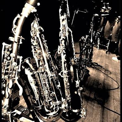 Music Photograph - Horns #horns #housemusic #jazz #music by David Sabat