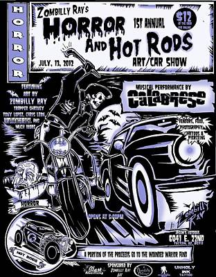 Horror And Hot Rods Art Print