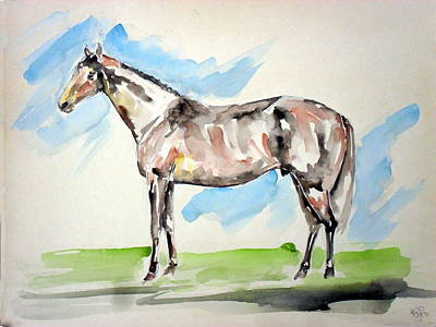 Wild Racers Painting - Horse 29 by Mohd Raza-ul Karim