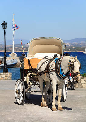 Photograph - Horse And Buggy On Spetses by Paul Cowan