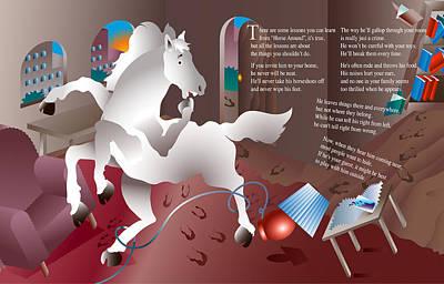 Creativity Drawing - Horse Around by Gene Rosner