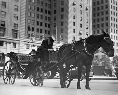 Horse Drawn Carriage, Nyc Art Print by George Marks