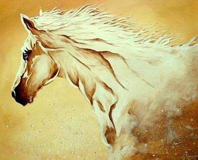Mustang Painting - Horse Dream by Lena Day