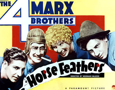 Horse Feathers, From Left Zeppo Marx Print by Everett