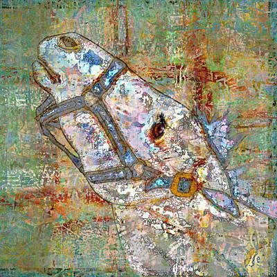 Digital Art - Horse Head by Mary Ogle