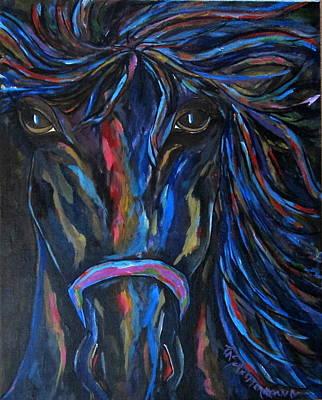 Painting - Horse In Contrast by Patti Schermerhorn