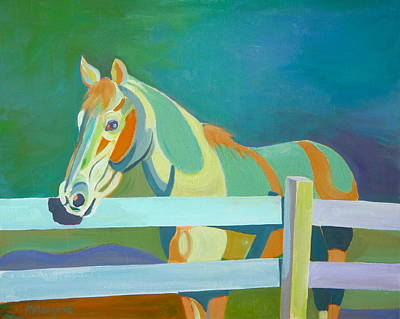 Horse In The Paddock Art Print by Thierry Keruzore