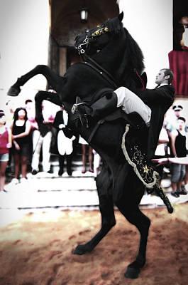 Food And Flowers Still Life - Horse Jump by Pedro Cardona Llambias