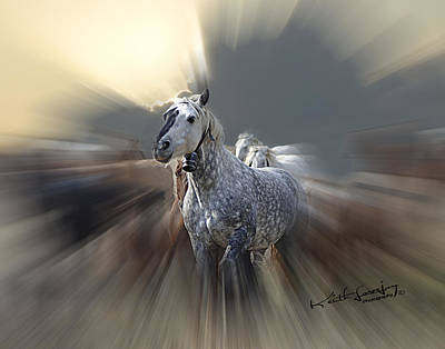 Horse Of A Different Color Zoomed Art Print