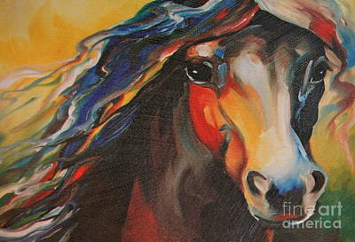 Photograph - Horse Painting by Pamela Walrath