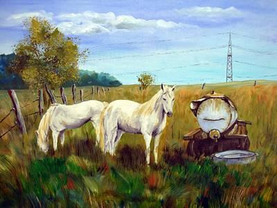 Karin Mueller Painting - Horse Power by Karin Mueller