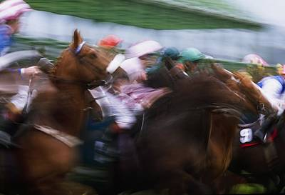 Frenzy Photograph - Horse Racing Horses Breaking From The by The Irish Image Collection