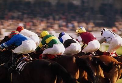 Space Jockey Photograph - Horse Racing, Phoenix Park, Dublin by The Irish Image Collection