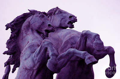 Horse Sculptures Art Print