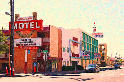 Horse Shoe Motel Art Print by Wingsdomain Art and Photography