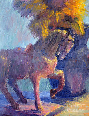 Horse Statue Art Print by Terry  Chacon