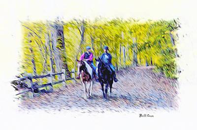 Horseback Riding  Print by Bill Cannon