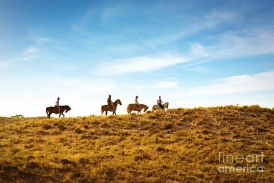 Horseback Riding Art Print by Carlos Caetano