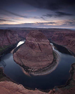 Wilderness Photograph - Horseshoe Bend At Dusk by Andrew Soundarajan