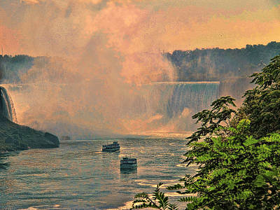 Photograph - Horseshoe Falls Canadian Niagara Falls by Lawrence Christopher