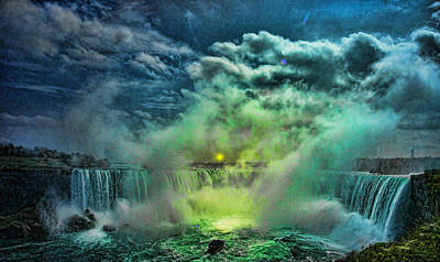 Photograph - Horseshoe Falls Canadian Side Niagara by Lawrence Christopher