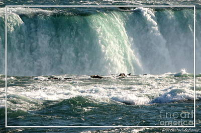 New York State Photograph - Horseshoe Falls Closeup Over The Brink by Rose Santuci-Sofranko