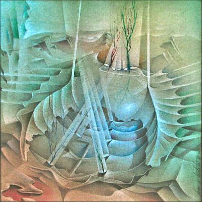 Pastel - Horseshoecrabscape 1983 by Glenn Bautista