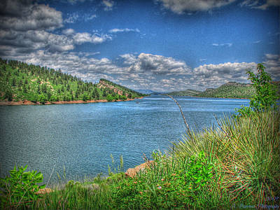 Horsetooth Reservoir Summer Hdr Art Print by Aaron Burrows