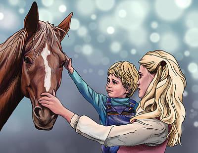 Horsey Art Print by Tyler Auman