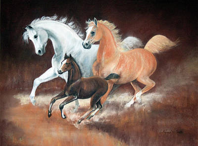 Horsin' Around Art Print by Rose McIlrath