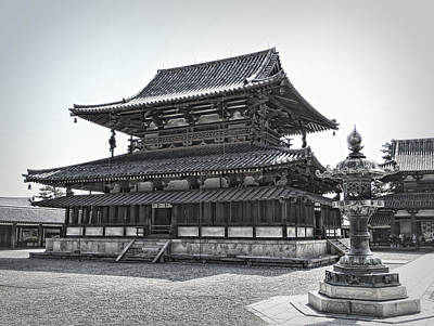 Horyu-ji Photograph - Horyu-ji Temple Golden Hall - Nara Japan by Daniel Hagerman