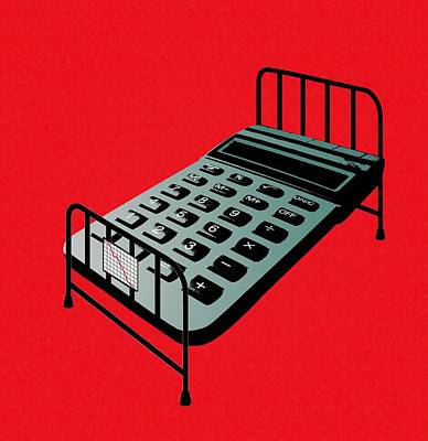 Hospital Bed Costs, Conceptual Image Art Print by Stephen Wood