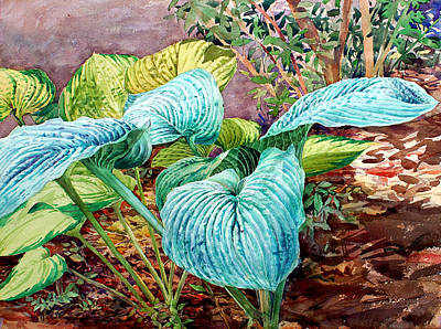 Painting - Hosta by Peter Sit