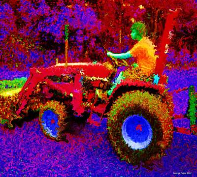 Photograph - Hot Afternoon On A John Deere Tractor by George Pedro